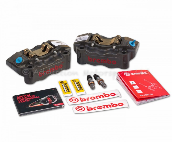 Brembo Racing HPK 100mm Billet P4 30/34 Radial Calipers inc. Pads - 220A16810