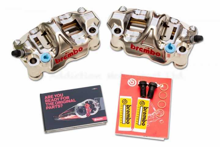 Brembo GP4 RX CNC P4 32/32 108mm Billet Radial Calipers with Brake Pads - 220B01010