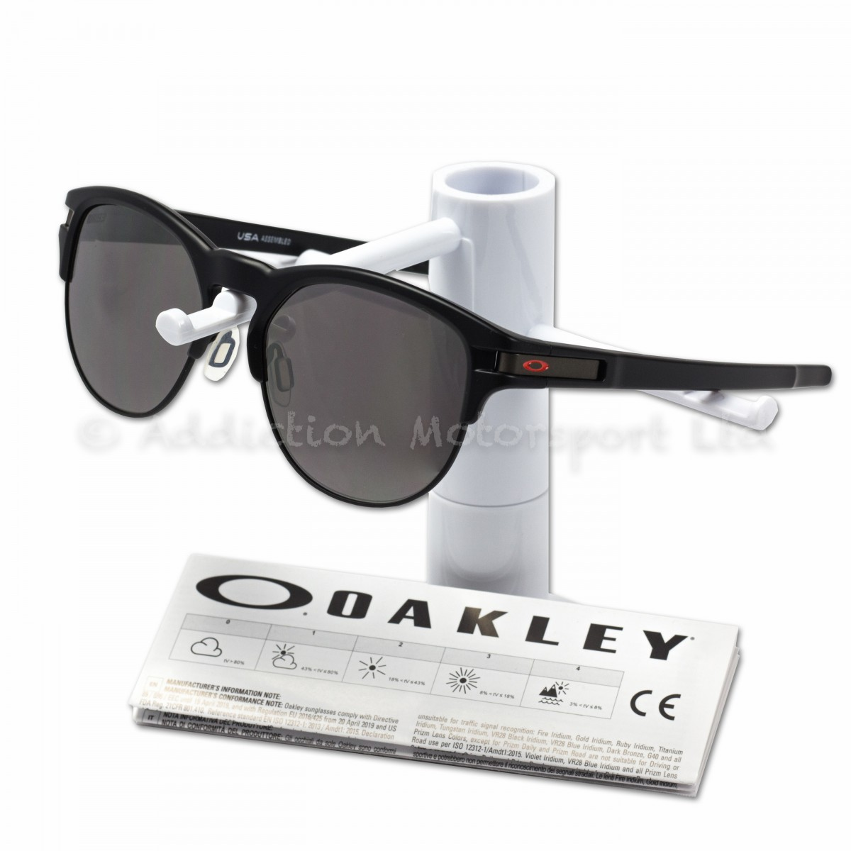 73984b34bafcb OAKLEY Latch Key Marc Marquez MM93 Signature Sunglasses Matt Black Prizm  Black Size M