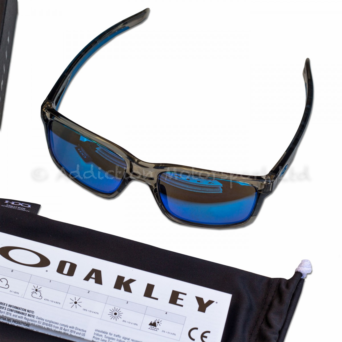 333e12dd2ba Oakley Mainlink Sunglasses in Grey Ink Sapphire Iridium 0O9264-03 Motogp